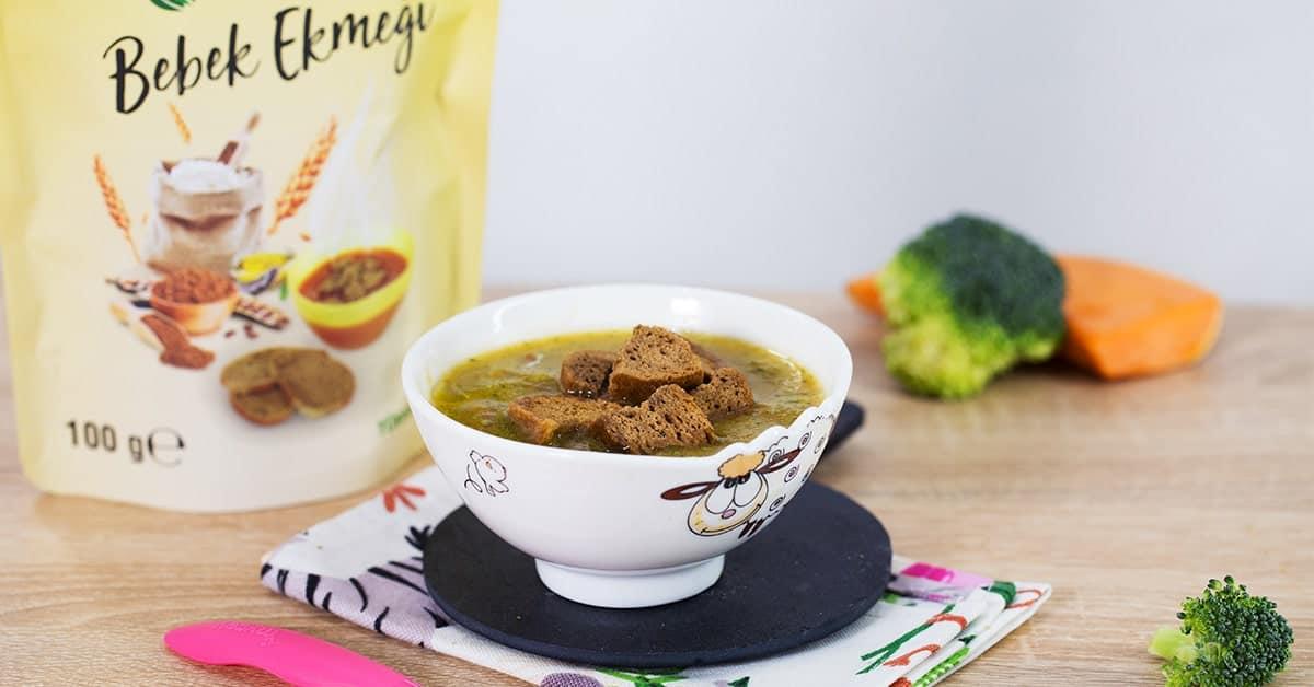 Bebek Ekmekli Brokoli Çorbası